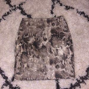 Snake Print Bodycon Skirt